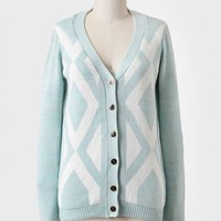 morning sky diamond print cardigan at ShopRuche.com