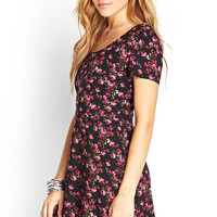 Rose Print Tea Dress