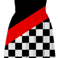 Racing Flag Themed Sundress created by One Stop Gift Shop | Print All Over Me