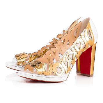 WE KNOW SPECCHIO/PVC 100 VERSION GOLD Specchio/Laminato - Women Shoes - Christian Louboutin