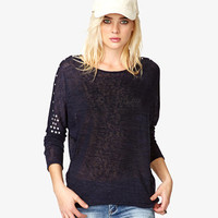 Rhinestoned Dolman Sweater