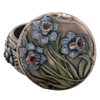 Arts and Crafts Daffodil Trinket Box