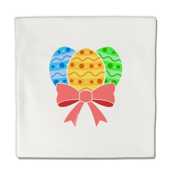 """Easter Eggs With Bow Micro Fleece 14""""x14"""" Pillow Sham by TooLoud"""