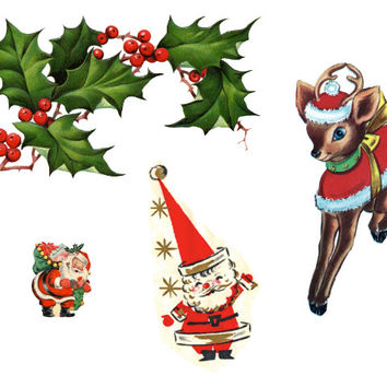 Vintage Style Christmas Tattoos - Pack 1