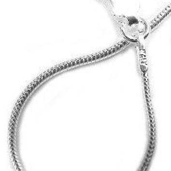 Sterling Silver Plated 1MM Snake Chain Necklace without Pendant