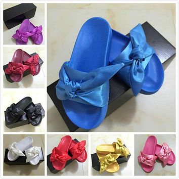 2017 HOT New Color Leadcat Fenty Rihanna Shoes Women Fashion Slippers Indoor Sandals Girls Scuffs Size 35-41