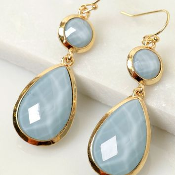 Angelic Stone Earrings Blue