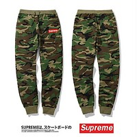 Supreme New fashion embroidery letter camouflage pants