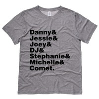 Full House Cast Names Mens Tee Shirt