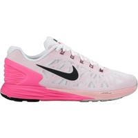 Nike Women's LunarGlide 6 Running Shoe - White/Pnk Pow/Space Pnk | DICK'S Sporting Goods