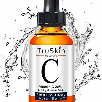 TruSkin Naturals Vitamin C Serum for Face, Organic Anti-Aging Anti Wrinkle Topical Facial Serum with Hyaluronic Acid, 1 fl oz