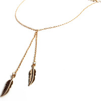"""Light As A Feather"" Gold Chain Necklace"