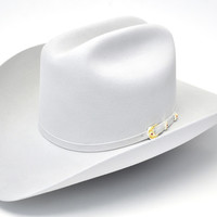 Larry Mahan 6X Real Platinum Fur Felt Cowboy Hat