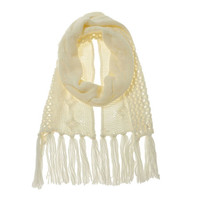 Nine West: Half Cable & Open Weave Scarf