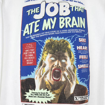 1989 MATT GROENING the job that ate my brain sweatshirt - vintage 80s shirt - the simpsons - rare