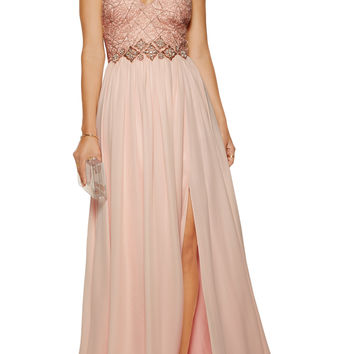 Embellished silk-chiffon gown | Badgley Mischka | US | THE OUTNET