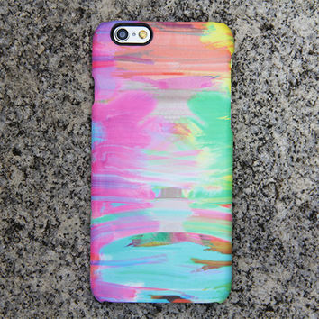 Abstract Painting iPhone 6s Case Pink Case Green iPhone 5S 5 iPhone 5C iPhone 4S/4 Case Blue Samsung Galaxy S6 edge S6 S5 S4 Note 3 Case 036
