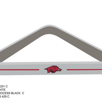University of Arkansas Billiard Ball Triangle Rack