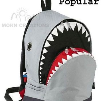 SHARK Backpack LARGE Morn Creations Great White GREY week killer whale dancing