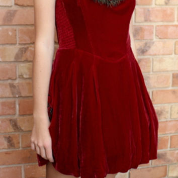 Velvet: Trending For Fall! Vintage 80s Betsey Johnson Red Victorian Party Dress