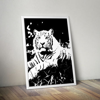 Printable Art Tiger| Tiger Poster | Wall Decor | Wall Art | Instant Download