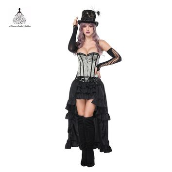 Corset Top underbust Slimming corset Steampunk Chest Binder Gothic Style Sexy lace dress Sexy Body Women Costumes Straitjacket