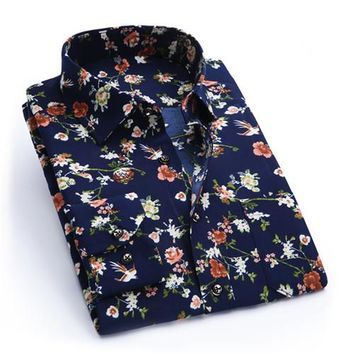 new flower Printed Casual Shirts for men size sml