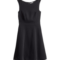 H&M - Sleeveless Dress - Black - Ladies