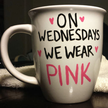 On Wednesdays We Wear Pink Mean Girls 14 oz Mug