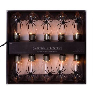 Maker's Halloween 10 Count Edison Bulb String Lights-Spider | JOANN