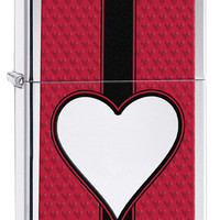 Zippo Chrome Heart High Polish Chrome Lighter