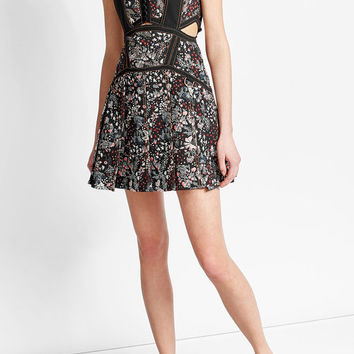 Jacquard Mini Dress with Cotton - Self-Portrait | WOMEN | US STYLEBOP.COM