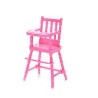 1 Pcs Mini Doll High Chair Plastic Feeding Chair for Barbie Doll Accessories