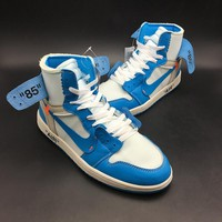 "Off-White x Air Jordan 1 Retro ""Dark Powder Blue"" AJ1 Sneakers - Best Deal Online"