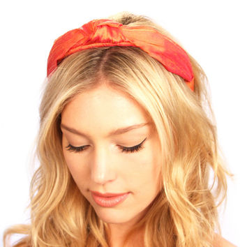 Dupioni Silk Knot Turban Headband Hat Headpiece Hair Accessories