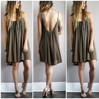 An Olive Flow Dress