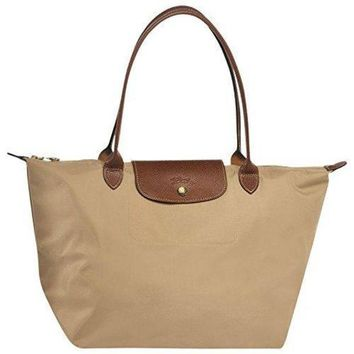 ONETOW Large tote bag L ( beige ) by longchamp paris ' LE PLIAGE' 100% authentic original from PARIS FRANCE