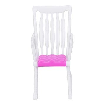 1Pcs Rocking Chair Accessories Plastic Furniture For Barbie Doll House Decoration Baby Toys Barbie Furniture Color Random