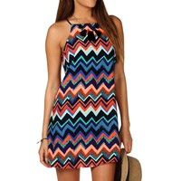 Sale-chevron Trapeze Dress