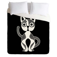 S Eifrid Jack Cat Black Duvet Cover