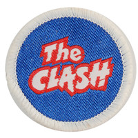Clash Men's Round Logo With White Border Embroidered Patch White