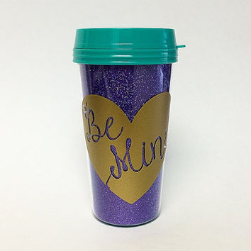 Be Mine Glitter Travel Mug