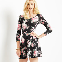 Aeropostale  Womens Long Sleeve Floral Dress