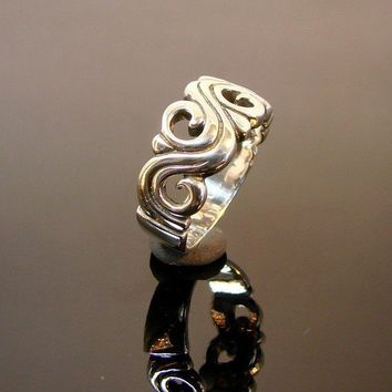 Rolling River  Sterling Silver Ring  149 by Firefallstudios