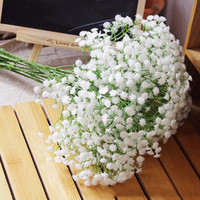 10pcs  Gypsophila Baby Breath Fake Silk Artificial Babysbreath Flowers Plant for Home Wedding Party House Decoration Products