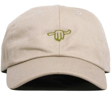 Hand Logo / Stay Gracious Dad Hat Stone