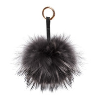 Nila Anthony Black Furry Keychain