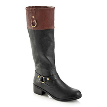 "Rampage® ""Indiana"" Mid-Heel Riding Boot at www.herbergers.com"