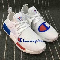 Adidas X Champion NMD XR1 PK Boost Trending Women Men Running Shoes Sneakers White Blue I
