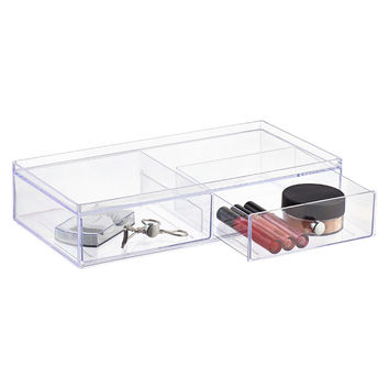Clarity Wide Stackable Makeup Storage Collection